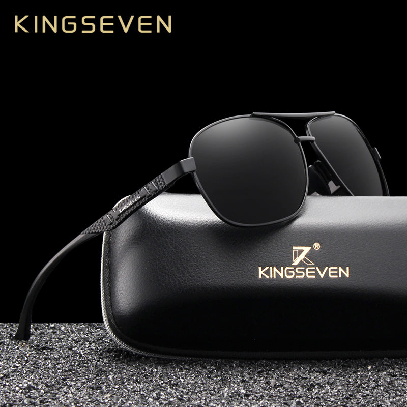 KINGSEVEN 2019 Brand Men Aluminum Sunglasses Polarized UV400 Mirror Male Sun Glasses Women For Men Oculos de sol