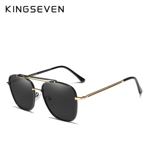 KINGSEVEN Brand Design Retro Polarized Men Sunglasses Metal Frame Vintage Sun Glasses For Men Driving UV400 Eyeglasses Oculos