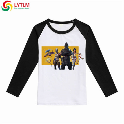 LYTLM Children Clothes Kids Long Sleeve T Shirts Girl Fortnight Costume T Shirt Kids 2018 Tiny Cottons Game Shirt Kids Girls Top