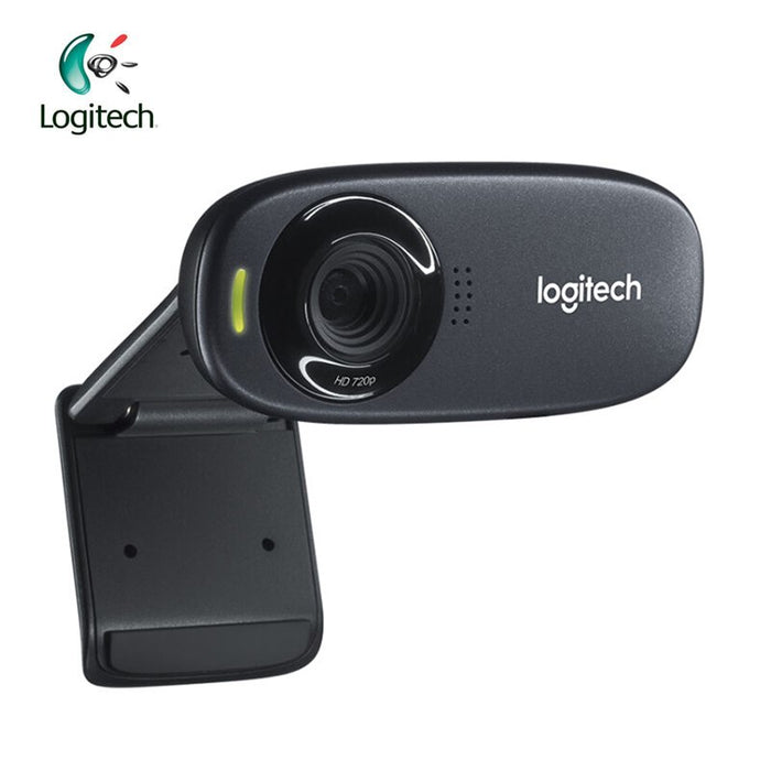 Logitech C310 HD 720P Webcam with 5MP Photos Built-in MIC Auto Focus Support Official Inspection for PC Notebook