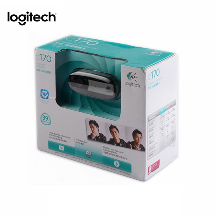 Logitech Webcam HD C170 with Built in Micphone 720P Computer Wired USB 2 0  CMOS Laptop Web Camera for Windows 10/8/7