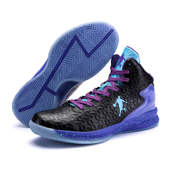 60861d55f09 Man High-top Jordan Basketball Shoes Men s Cushioning Light Basketball  Sneakers Anti-skid Breathable