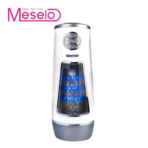 Meselo New Luxury Automatic Masturbator Male Hands-free Powerful High Speed Masturbation Cup Multiple Vibration Sex Toys For Men