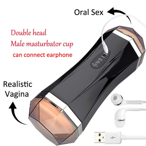 Meselo Two Channel Automatic Masturbator For Man Blowjob Realistic Vagina Sex Machine Male Masturbator Adult Sex Toys For Men