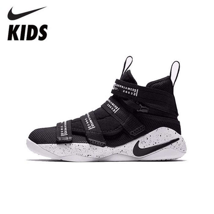 NIKE LEBRON SOLDIER XI FLYEASE (GS) KIDS New Arrival Original Breathable Anti-Slippery Children Outdoor Basketball Shoes #AJ6985