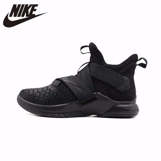 reputable site 23b78 95d51 NIKE Lebron Soldier 12 Original New Men s Basketball Shoes High Cut  Sneakers Wear Resistant Breathable Shoes