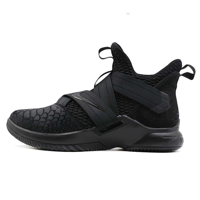 NIKE Lebron Soldier 12 Original New Men's Basketball Shoes High Cut Sneakers Wear Resistant Breathable Shoes #AO4055