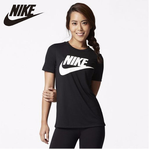 NIKE SPORTSWEAR ESSENTIAL Woman Running T-shirt Comfortable Breathable T Pity #829748-010/100