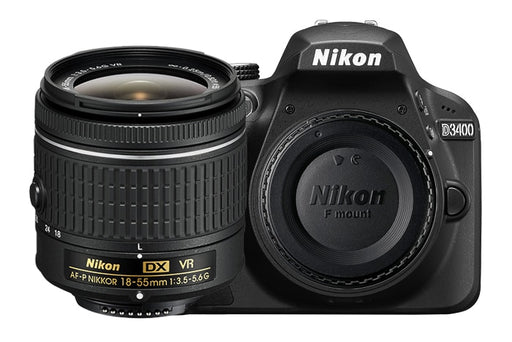 New Nikon D3400 24.2 MP Digital SLR Camera Body & AF-P DX 18-55mm Lens Kit
