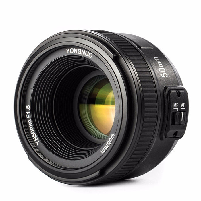 New YONGNUO YN 50mm f/1.8 AF Lens YN50mm Aperture Auto Focus Large Aperture for Nikon DSLR Camera as AF-S 1.8G Free lens bag