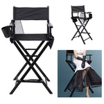 Newest Portable Wooden Makeup Chair With Side Bags Folding Artist Director Chair Professional Beauty Tool Make-Up Accessories