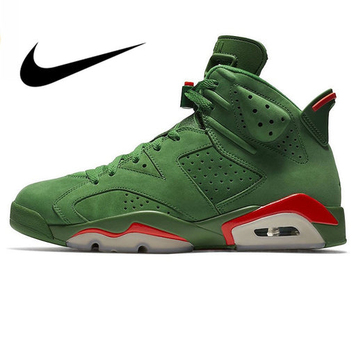 Nike Air Jordan 6 Gatorade AJ6 Green Suede Men's Basketball Shoes Outdoor Sneakers Athletic Designer Footwear 2018 New Walking