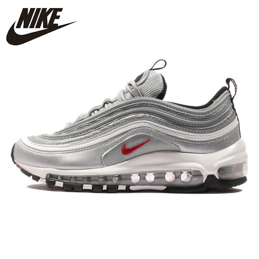 db0af74f6c Nike Air Max 97 OG QS Men's Breatheable Running Shoes Gold And Silver Bullet  Sneakers #