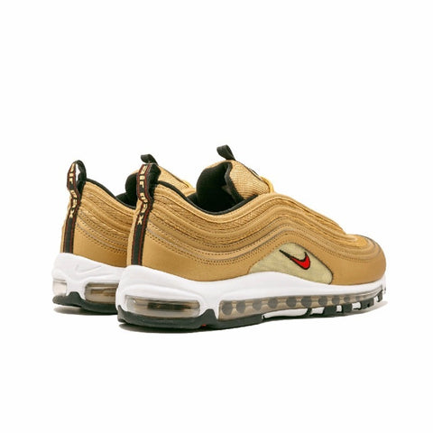01c69ac644c Nike Air Max 97 OG QS Men s Breatheable Running Shoes Gold And Silver  Bullet Sneakers