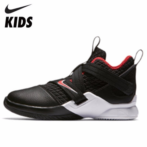 Nike LEBRON SOLDIER XII Boy And Girl Motion Shock Absorption Basketball Shoes Running Shoes  Kids Sneakers#AA1353-001