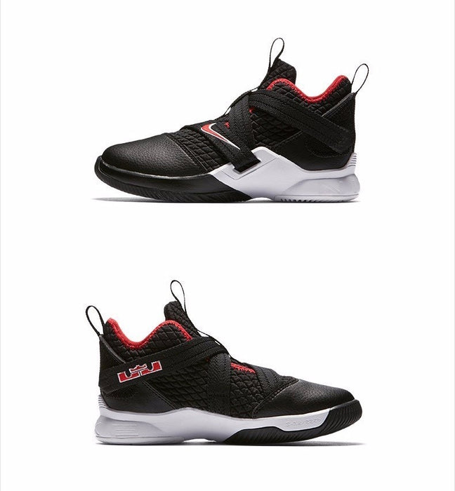 timeless design 197e0 ea887 Nike LEBRON SOLDIER XII Boy And Girl Motion Shock Absorption Basketball  Shoes Running Shoes Kids Sneakers#AA1353-001