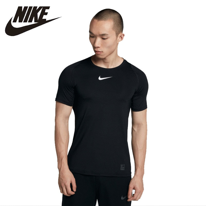 Nike Pro Man Running Shorts Breathable Cotton Short Sleeve Training Jacket Sports Tight Shirts Official 838094 838092