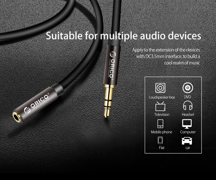 ORICO 3.5 mm Headphone Extension Cable AUX Jack Male to Female Cable Audio Extender Cord For  Computer iPhone Amplifier Cables