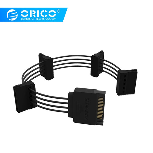 ORICO SATA Standard 15 Pin 3 in 1 or 4 in 1 DIY Chassis Power Cord HDD Cables Support Strong Power for Multiple Hard Drives
