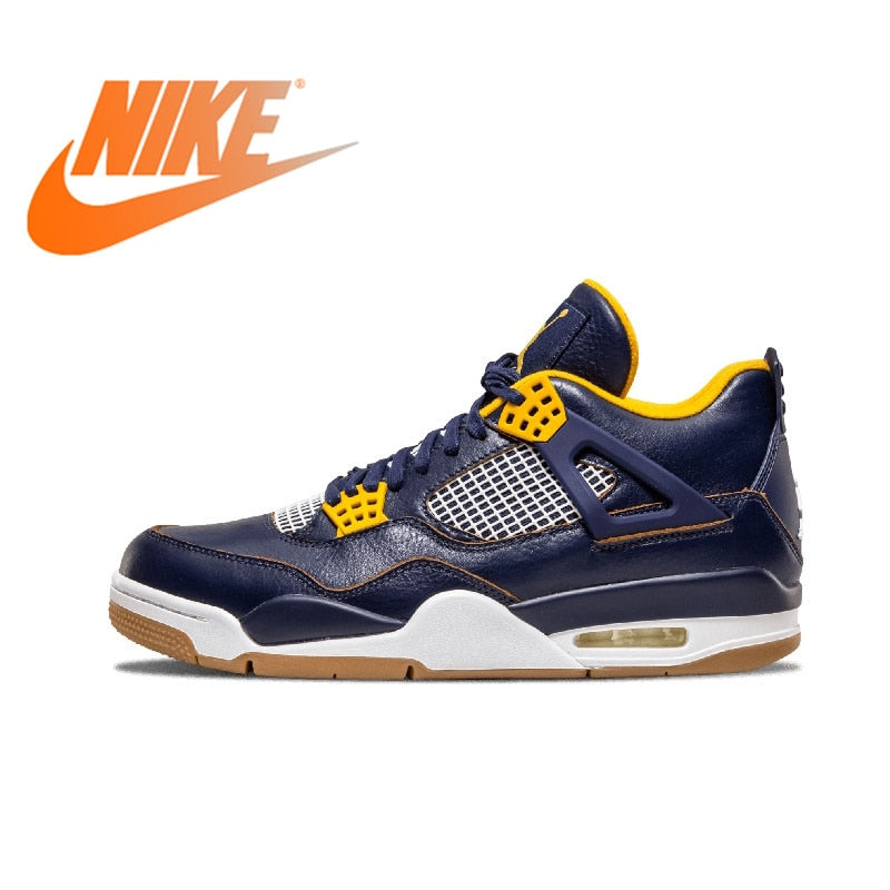 Official Original Nike Air Jordan 4 Dunk From Above AJ4 Men's Basketball Shoes Medium Cut Breathable Thread Sneakers 308497-425