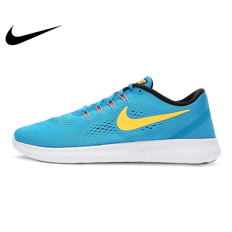 Original Authentic NIKE Breathable FREE RN Men's Running Shoes Sneakers Outdoor Walking Jogging Sneakers Comfortable 831508-402