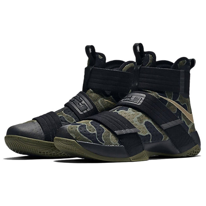 ec99f6974a1 Original Authentic NIKE Originals LEBRON SOLDIER 10 Men s Cool Camouflage  Basketball Shoes Sneakers High Breathable Durable