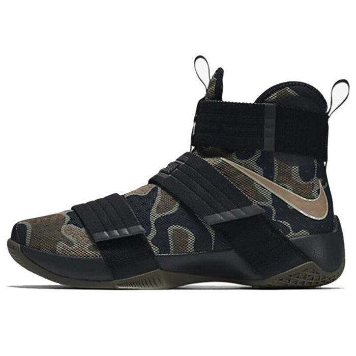 Original Authentic NIKE Originals LEBRON SOLDIER 10 Men's Cool Camouflage Basketball Shoes Sneakers High Breathable Durable