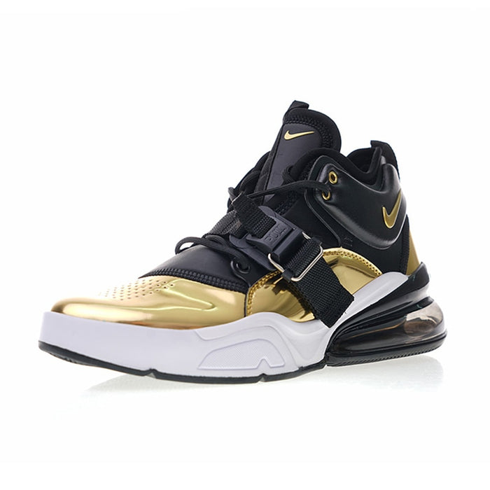 Original Authentic Nike Air Force 270 QS Gold Standard Men's Running Shoes Sport Breathable Sneakers 2019 New Arrival AT5752-700