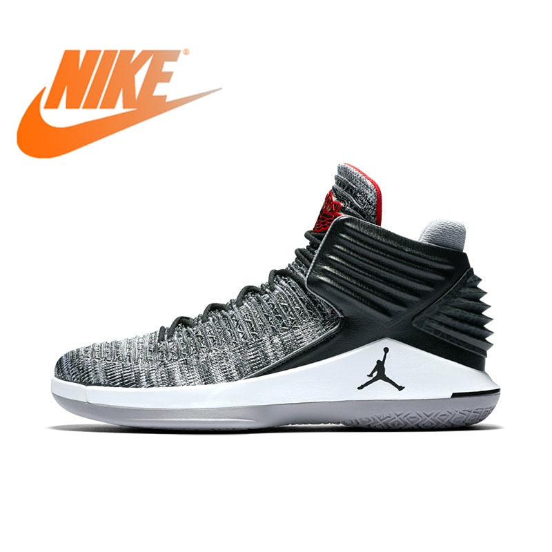 Original Authentic Nike Air Jordan JORDAN XXXII PF Mens Basketball Shoes Sneakers Comfortable Breathable Medium Cut AJ AH3348