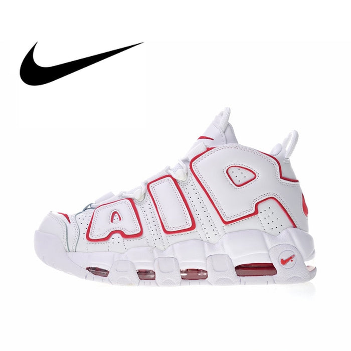 Original Authentic Nike Air More Uptempo Men's Basketball Shoes Outdoor Sneakers Top Quality Athletic Designer Footwear 414962