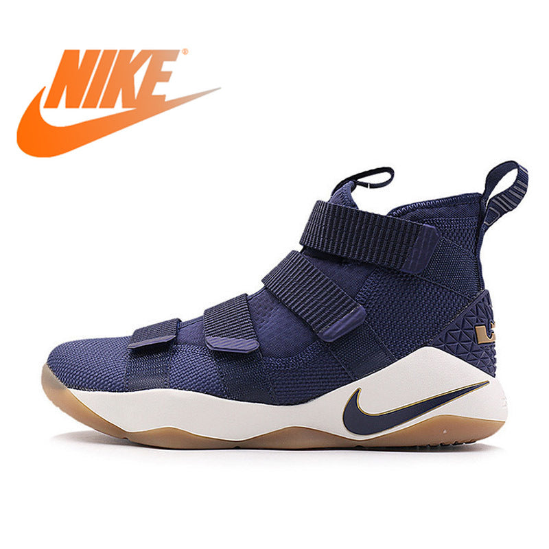 Original Authentic Nike LBJ Men's LEBRON SOLDIER XI LBJ Basketball Shoes Breathable Sports sneakers  Lightweight Non-slip 897645