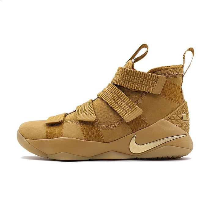 Original Authentic Nike LEBRON SOLDIER 11 Men Basketball Shoes Medium Cut Sports outdoor Sneakers 2018 New Arrival 897647-004