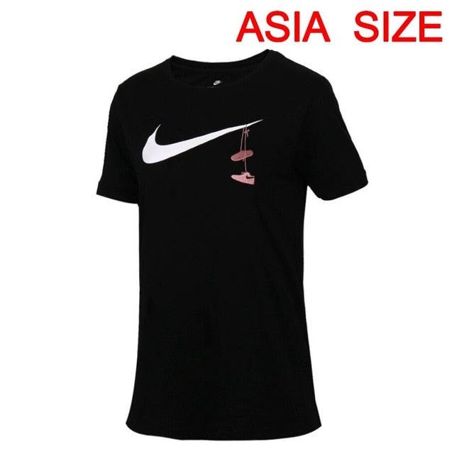 Original New Arrival 2018 NIKE SWSH SHOES EMBRD Women's T-shirts short sleeve Sportswear
