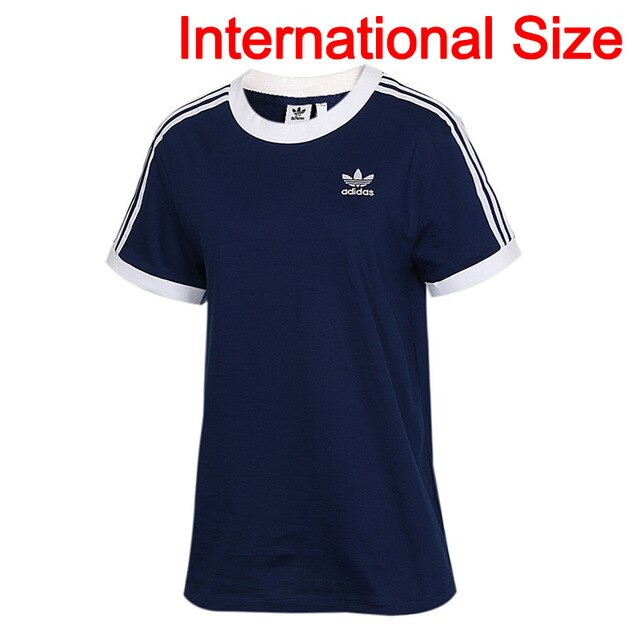 Original New Arrival  Adidas Originals 3 STRIPES TEE Women's  T-shirts short sleeve Sportswear