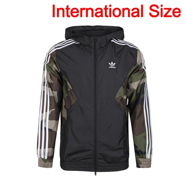 Original New Arrival  Adidas Originals CAMO WB Men's jacket Hooded  Sportswear