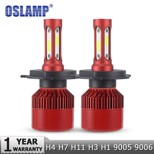Oslamp H4 LED Headlight Bulbs H7 H11 H1 H3 9012 9005 9006 COB Auto Headlamp 60W 7000lm 6500K/4300K 9007 H13 LED Car Light Bulb