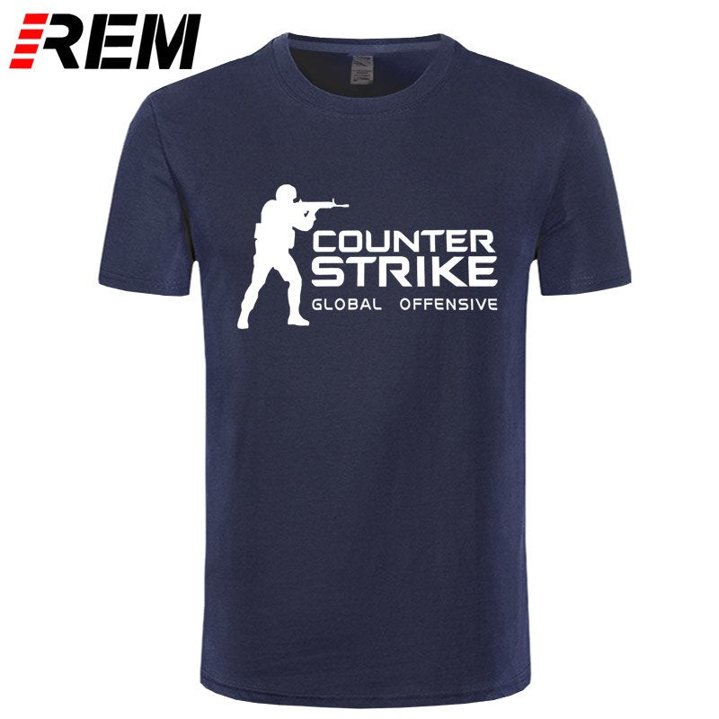REM Brand Tee CS GO T Shirt Counter Strike Global Offensive CSGO TShirt Men Casual Games Team Funny T-Shirt Summer Tops 1 2