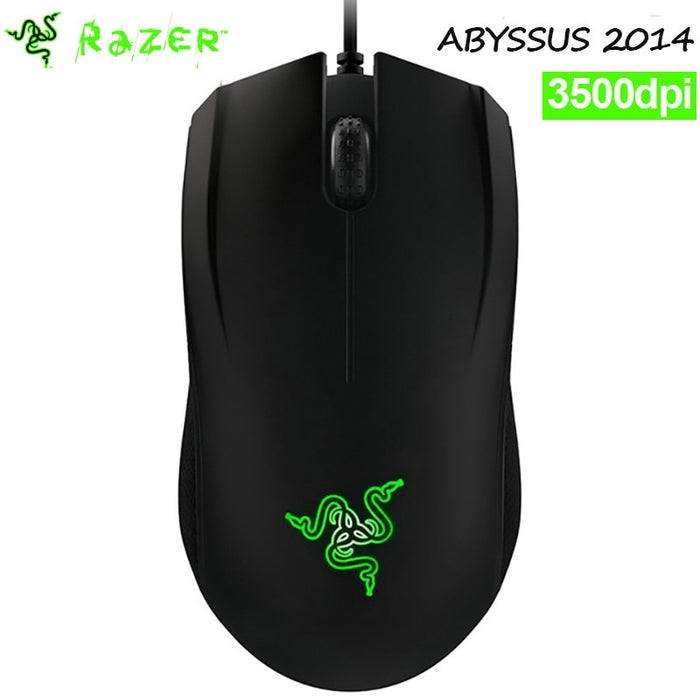 Razer Abyssus 2014 Professional Grade Gaming Mouse 3500DPI USB Wired Optical sensor Ergonomics Computer GameMouse-Black
