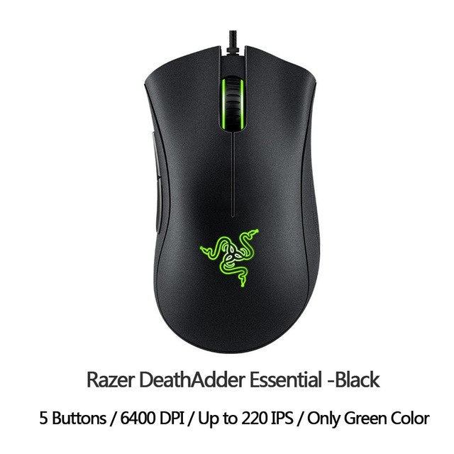 Razer DeathAdder Elite Gaming Mouse 16000 DPI Ergonomic Chroma Lighting Optimized 450 IPS 7 Buttons eSports Wired Mouse Gamer