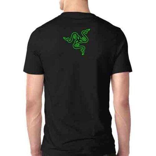 Razer Gaming Tee Two Sides Tshirt Cotton New Men's T-Shirt Size  Cool Casual pride t shirt men Unisex Fashion tshirt