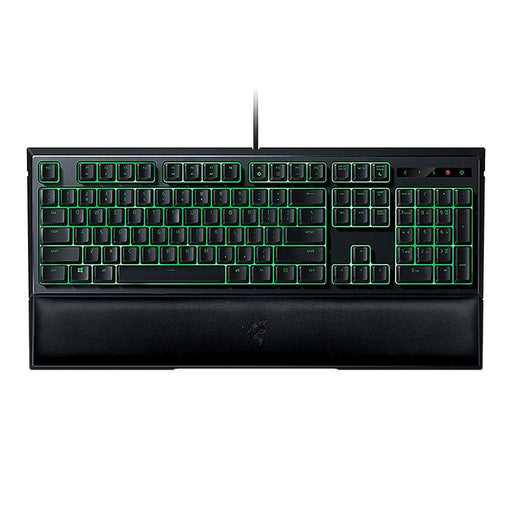 Razer Ornata Membrane Gaming Keyboard 104 Keys Mid-Height Keycaps Wrist Rest Green Blacklight Keyboard for Tablet/Laptop/Desktop