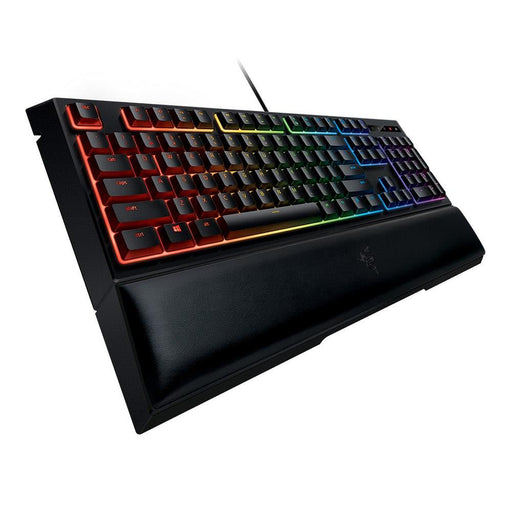 Razer Wired Mechanical Keyboard RGB Backlit BlackWidow Chroma V2 Ergonomic Wrist Rest Tactile Green Switches Gaming Keyboard