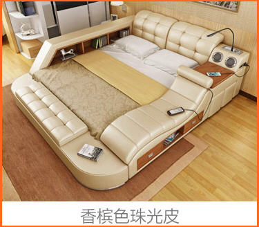 Real Genuine leather bed frame massage Soft Beds Home Bedroom Furniture camas lit muebles de dormitorio yatak mobilya quarto bet