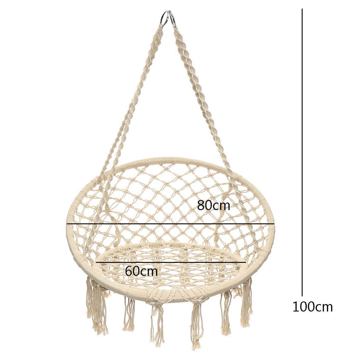 Round Hammock Furniture Swing Hanging Chair for Outdoor Indoor Hammock for Garden Dormitory Child Adult Comfortable Chair