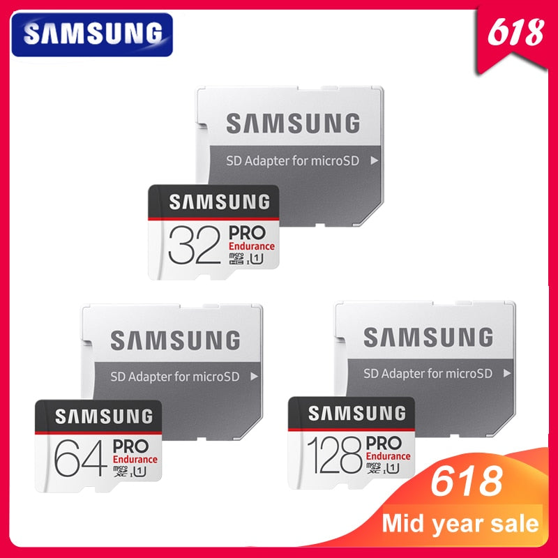 SAMSUNG Memory Card Micro SD Card PRO Endurance 100MB/s 32GB 64GB 128GB SDXC SDHC Class 10 TF Card C10 UHS-I Trans Flash Card