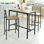 SoBuy OGT03 Home Kitchen Restaurant Bar Set Furniture Dining Set-1 Bar Table and 2 Stools
