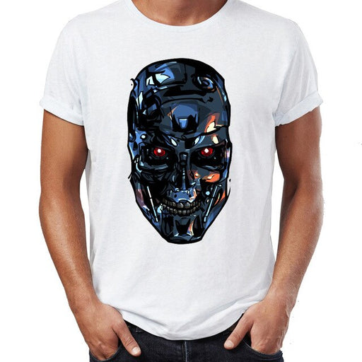 Summer Men's T-shirt Terminator Arnold Schwarzenegger Awesome Artwork Printed Tshirt Funny Cool Tees Tops Harajuku Streetwear