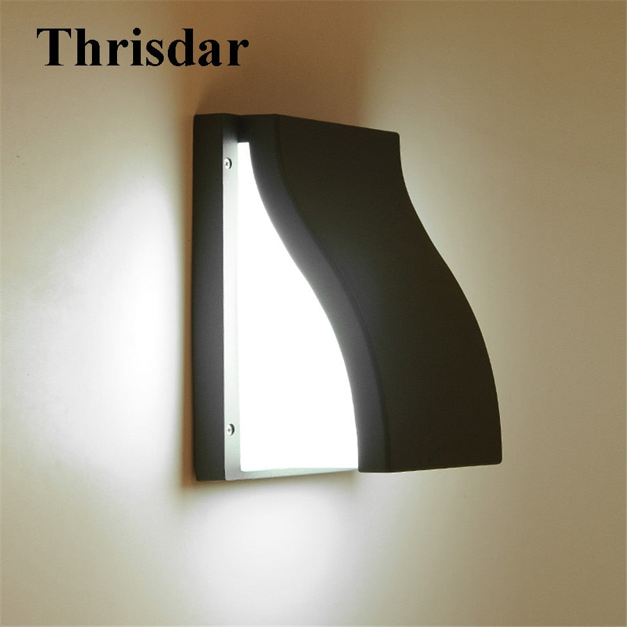 Thrisdar 3W 15W Waterproof Led Wall lamp Aluminum Courtyard Garden Porch Light Outside Villa Building Corridor Decor Wall Sconce