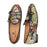 Piergitar multi color jacquard silk double-monk BELGIAN LOAFERS with black buttons handcrafted men smoking slippers plus size