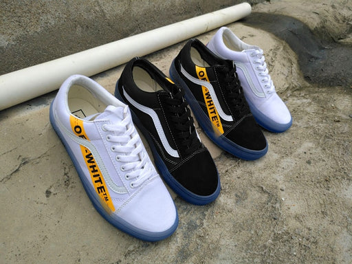 VANS CE Y62 Vans Old Skool X Off-White Classic Men and Womens Sneakers canvas shoes, Sports shoes Weight lifting shoes Eur 36-44